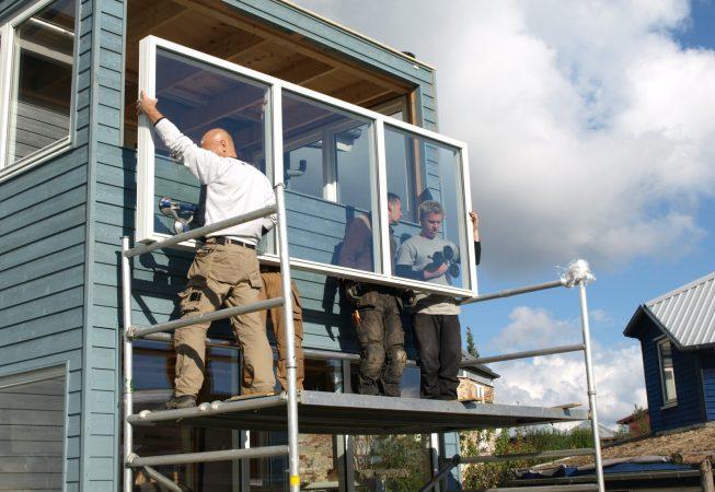 Nye vinduer i tilbygning