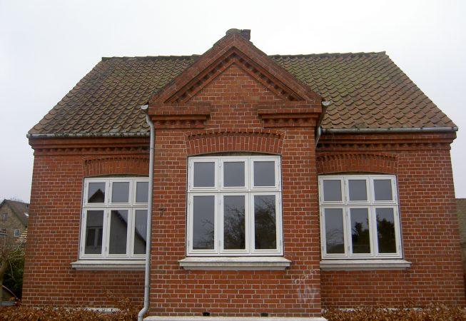 Nye vinduer kernetræ mørtelfuger i Århus